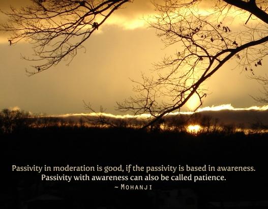 Mohanji quote passivity