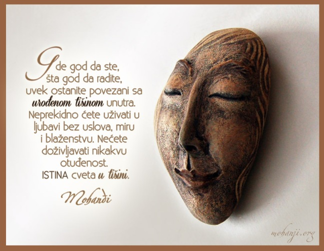 Mohanji quote in Serbian - Wherever you are, whatever you do
