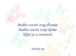 Mohanji quote in Serbian - Budite svesni svog disanja