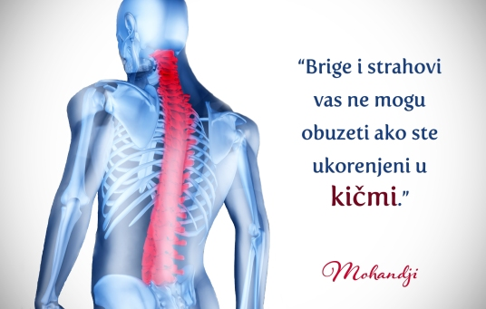 Mohanji quote in Serbian - Anxieties and fears cannot touch you when