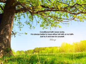 7 quote Conditional faith never works