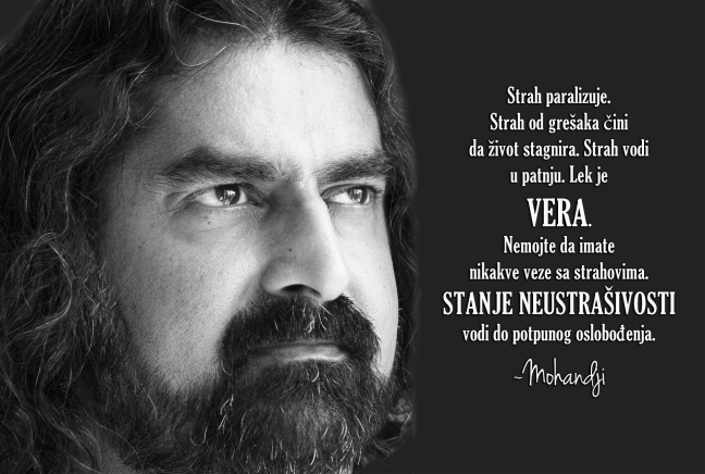 Mohanji quote in Serbian - Fear cripples