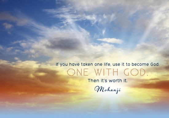 mohanji-quote-if-you-have-taken-one-life-use-it-to-become-god