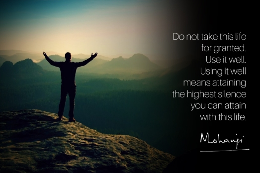 Mohanji quote - Do not take this life for granted