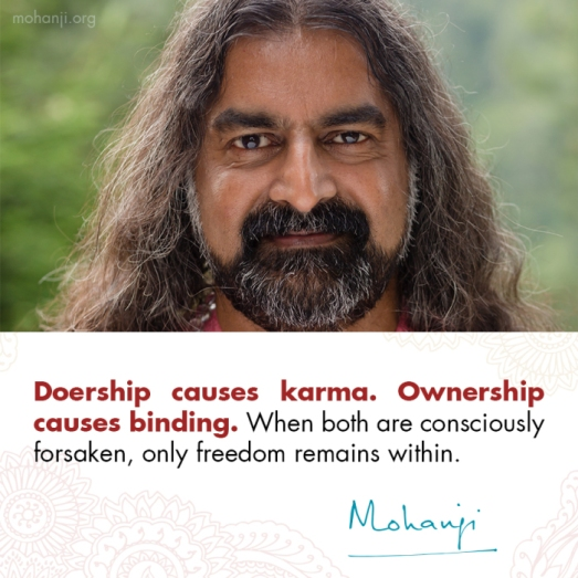 mohanji-quote-doershipownership-vs-freedom